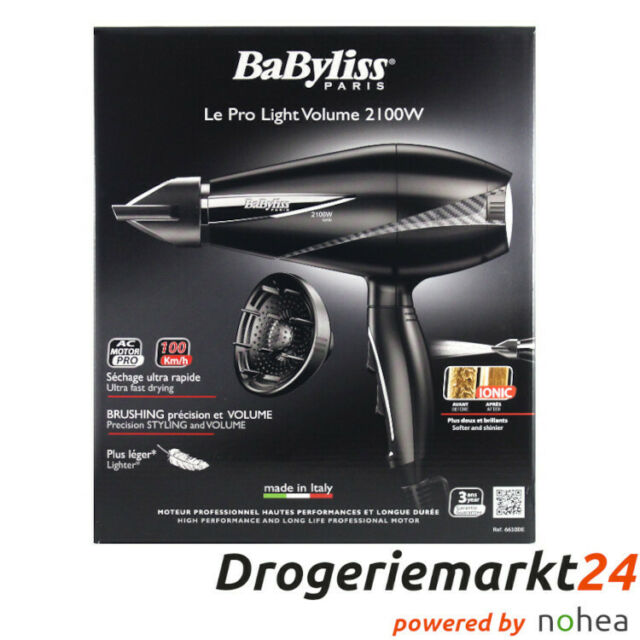 BaByliss Haartrockner Pro Light Volume 6610DE, schwarz