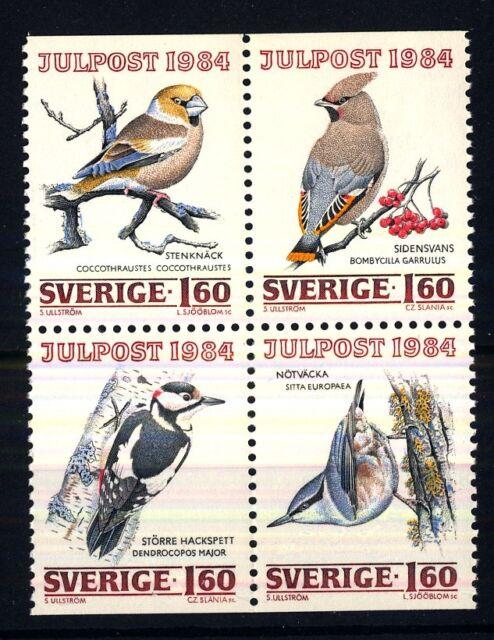 SWEDEN - SVEZIA - 1984 - Natale. Uccelli che svernano in Svezia
