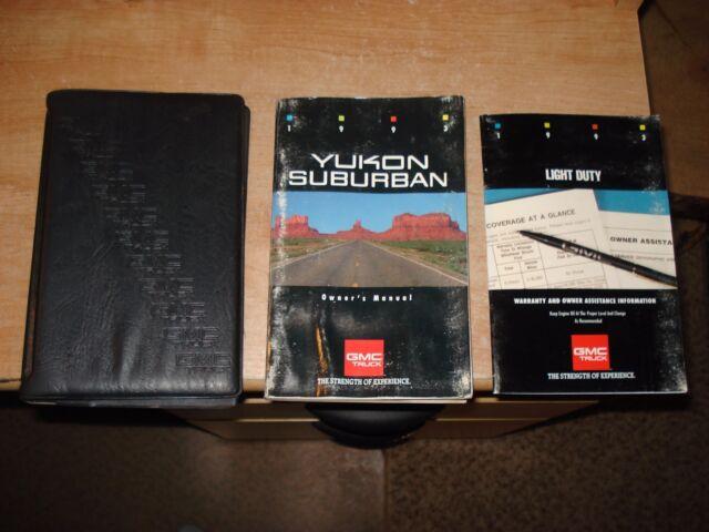 1993 Gmc Yukon Suburban Owners Manual Set Original Glove Box Books