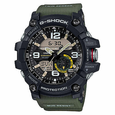 Casio G-SHOCK GG1000-1A3 Mudmaster Twin Sensor Compass Green 200m Men's Watch