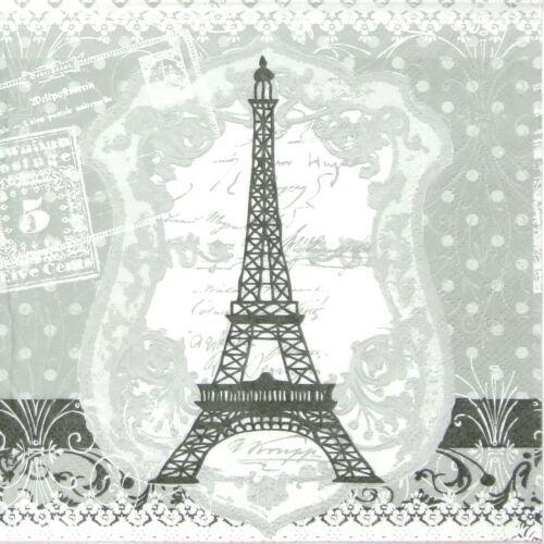4x Paper Napkins for Decoupage Decopatch Eiffel Tower Paris