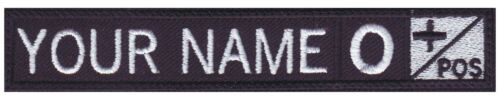 Personalized Embroidered Name Tag Patch with Blood Type