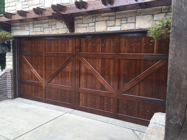 Gabriel Design 8 X 7 Barn Style Custom Mahogany Wood Garage