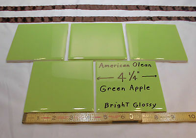 """Ceramic Matte Tile *Bayberry-Celery Green* by American Olean 4-1//4/""""  NOS 1 pc"""