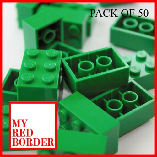 LEGO 2x3 BRICKS 3002 Pack of 50 parts GREEN Pieces Bundle