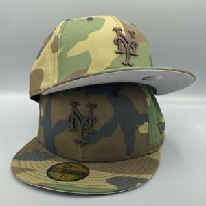 New York Mets Basic New Era 59FIFTY MLB Fitted Camo Hat