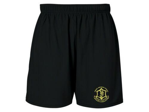 Israeli army IDF zahal tzahal emblem moisture wicking polyester black shorts