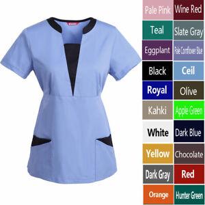 TAILOR/'S Womens Scrub//Nursing Uniforms//Medical Scrubs Top Black