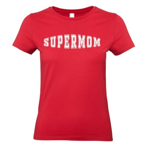 T Shirt Super Mom Gift Day Mothers Tee S Top Mother Mum Supermom s-2xl