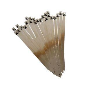 25pc Edelstahl Metall Kabelbinder Befestigungsel<wbr/>emente Kabelbinder 200mmx7,9mm