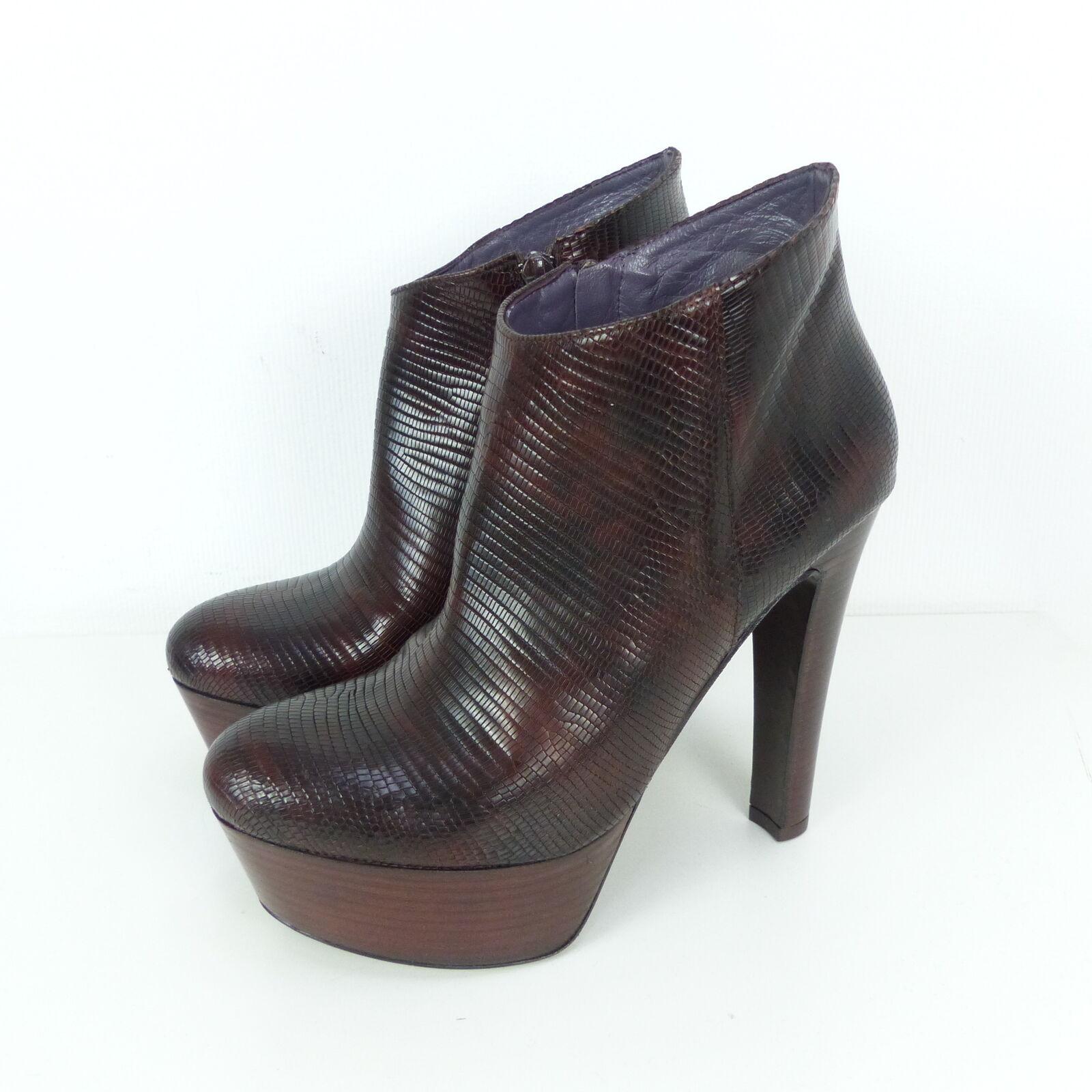 SOM-MITS stivaletti stivaletti stivaletti ankle stivali high heals PLATEAU MarroneeE rettile Mis. EUR 39 (sr7) | Alta sicurezza  | Scolaro/Ragazze Scarpa  ad2532