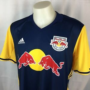 Details about New York Red Bulls Adidas Mens Replica Jersey Soccer Climacool Blue XL NWT
