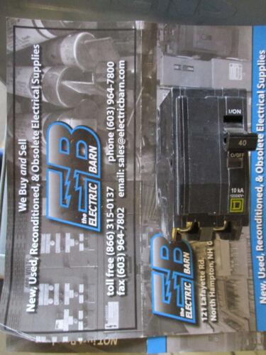 NEW Yellow 40 Amp 2 Pole 240 Volt Circuit Breaker Square D QO240