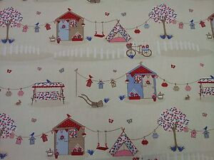 Fryetts-Summer-Holiday-Blue-Curtain-Upholstery-Craft-Designer-Fabric