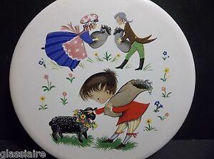 """Vintage English Tile NURSERY RHYME Baa Baa Black Sheep 6"""""""