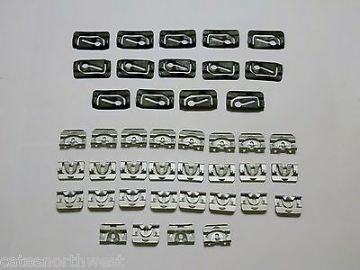 69-76 Chevy Buick Pontiac rear glass back window reveal moulding clips 20pcs