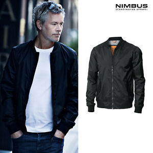 Nimbus-Men-039-s-Tribeca-Bomber-Jacket-NB50M-Casual-Zipped-Pockets-Nylon-Coat