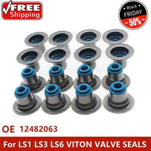 For LS1 LS3 LS6 VITON VALVE SEALS .313 X 500 METAL CLAD 4.8 5.3 5.7 6.0 GM TOP