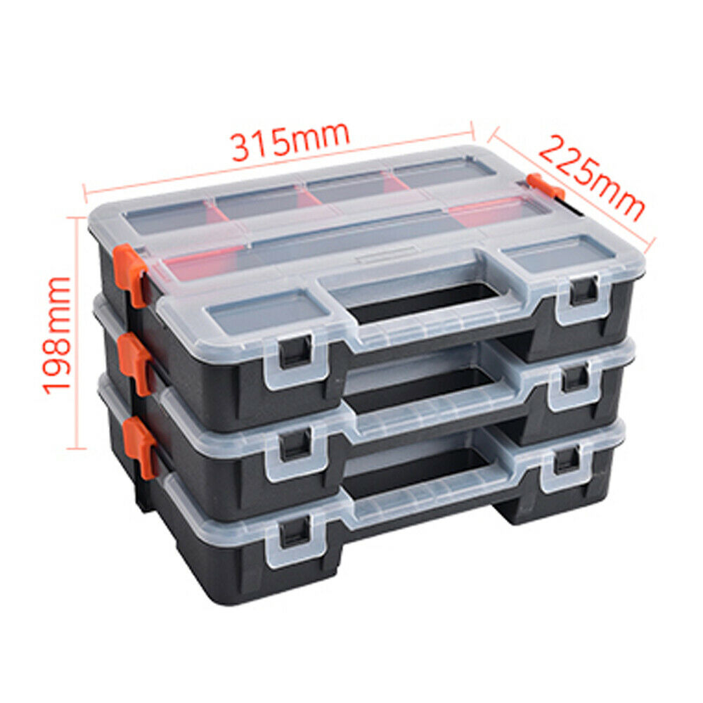 Portable Nail Screws Bolts Storage Case Tool Box Plastic PM-1-3S