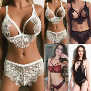 267a90384c70f Womens Sexy Lingerie Set Lace Bra Sets Wireless Bra and Panty ...