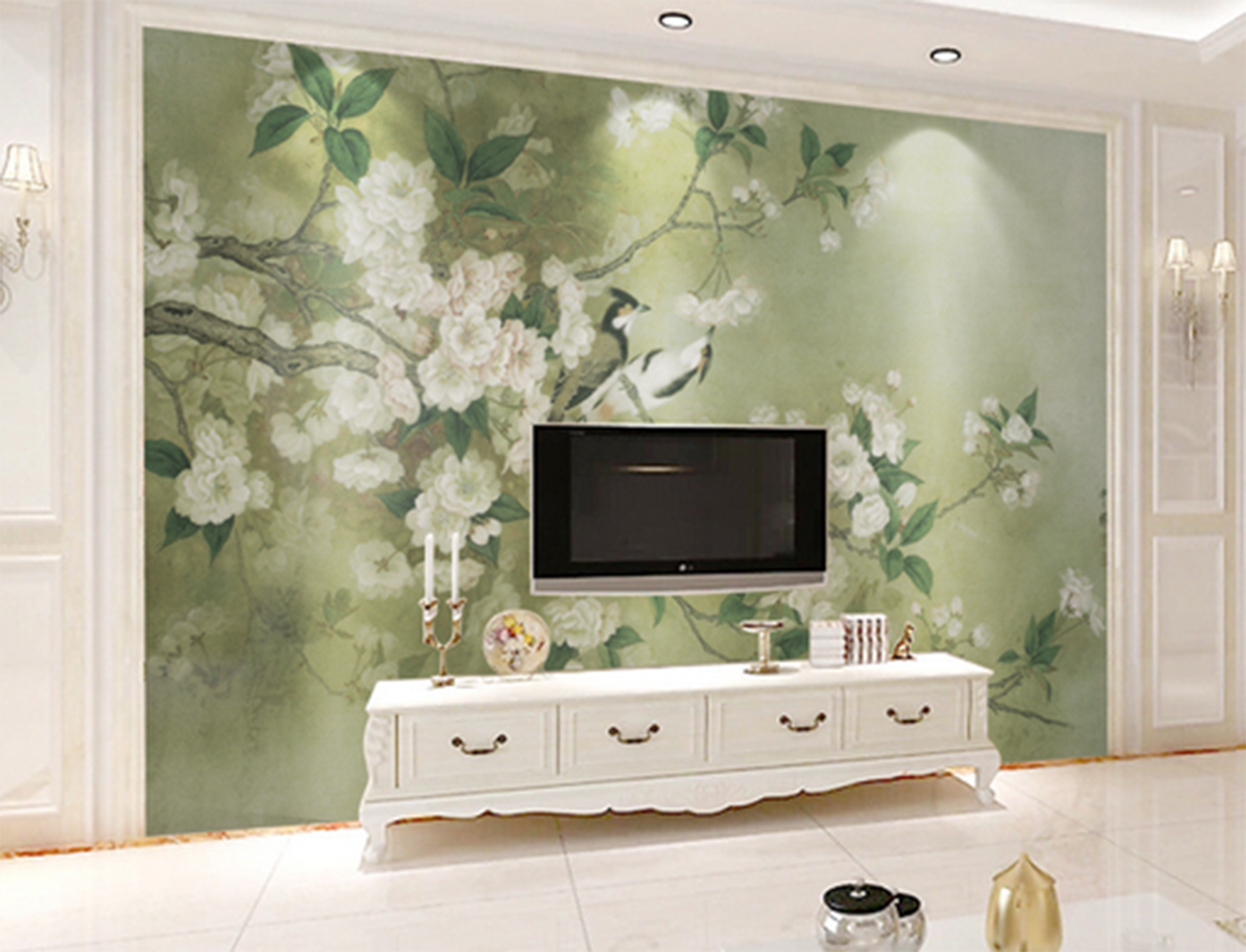 3D Flower Weiß 655 Wallpaper Murals Wall Print Wallpaper Mural AJ WALL AU Kyra