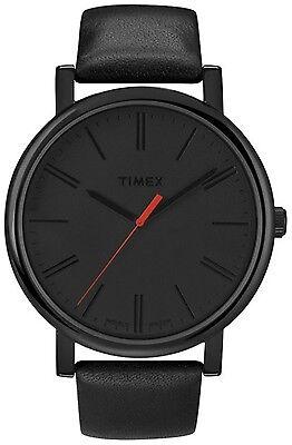 Timex Men's Easy Reader T2N794 Black Leather Quartz Fashion Watch