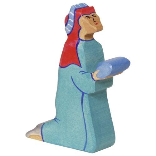 HOLZTIGER König Balthasar 2, 80295 für Krippe, Heilige 3 Könige Krippenfigur