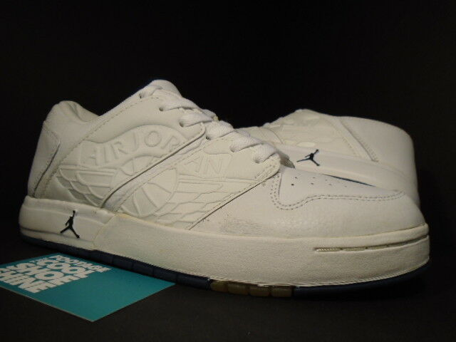 2002 Nike Air Jordan I NU' RETRO 1 faible blanc NAVY Bleu noir 302371-141 DS NEW 7