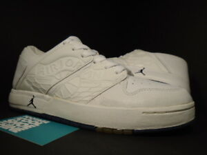 1f7f80d1f82 2002 Nike Air Jordan I NU' RETRO 1 LOW WHITE NAVY BLUE BLACK 302371 ...