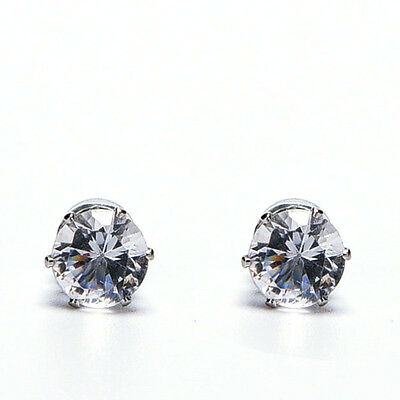 1Pair Excellent New Unisex Men Women Crystal Magnet Earrings Stud Jewelry GiftWK