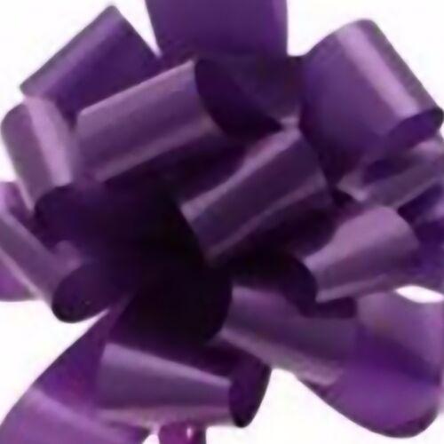 Ribbon Pull Bows x5 PURPLE Palm size floristry waterproof giftwrap Funeral sheaf