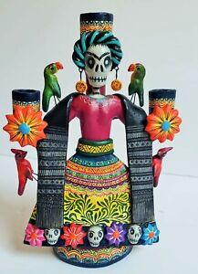 Beautiful-Frida-Kahlo-Candelabra-Alfonso-Castillo-tree-of-life-Mexican-folk-art