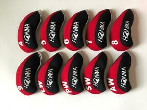 10PCS-Protective-Club-Headcovers-for-Honma-Golf-Iron-Head-Covers-4-LW-Red-amp-Black