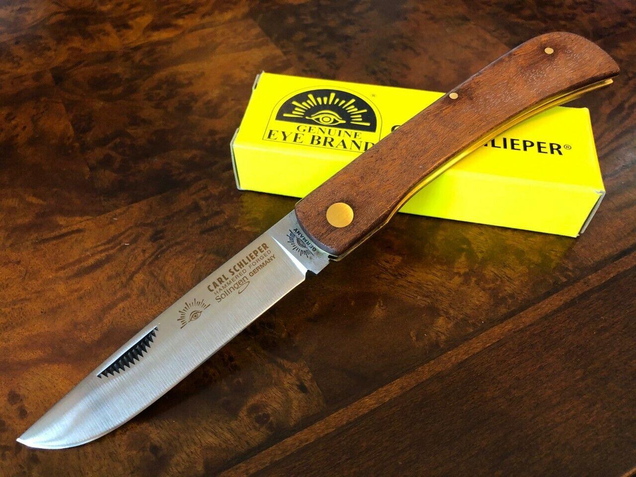 Carl Schlieper German Eye Brand Solingen Knife Large Clodbuster Wood Handle GE99