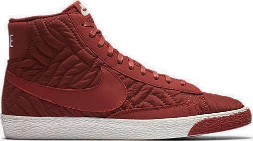 Nike wmns blazer metà ridotta se 857664 600 buio cayenne / white-maroon - quilted nylon