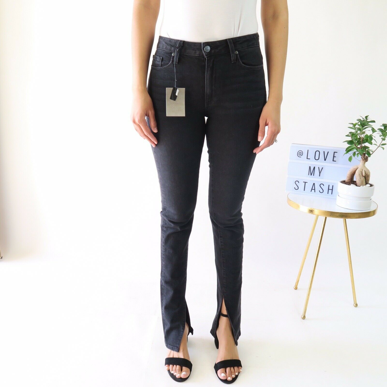 PAIGE x Rosie HW Constance Skinny Jeans In Vintage black - Women's Size 27 - NWT