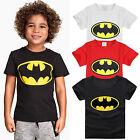 Baby Kinder Jungen Batman Cartoon Bedrucktes T-shirt Sommer Kurzärmelig