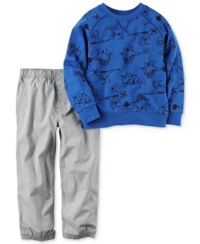Carter/'s NWT 12M 18M 2T 3T 4T Toddler Boy Dino Shirt Pant Set $30