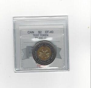 **Test Token**,Coin Mart Graded Canadian Toonie $2**EF-40** TT-200.17