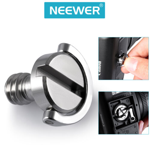 """Neewer 2-pack D Shaft D-ring 1//4/"""" Mounting Screw for Camera Tripod Monopod"""
