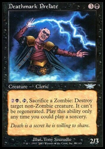 Legions *Cleric for Zombie Deck* MTG 4x DEATHMARK PRELATE
