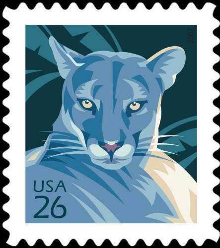 2007 26c American Wildlife, Florida Panther Scott 4139