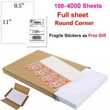 Full Sheet Shipping Label 85 X 11 Sticker Labels For Laser Amp Ink Jet Printers