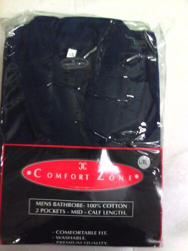 Nuovo Taglia Accappatoio L m uomo Blu da 100 Comfort xl cotone S Zone Colore rrqwzRCdx