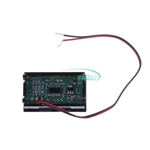 """2//3 fils 0.56/"""" DC 5V-30V//120V Rouge//Vert//Bleu DEL voltmètre numérique AC 70V-500V"""