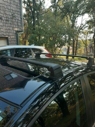 Black Roof Rack Cross Bar for MAZDA 3 Sedan 4 Doors  2009-2014