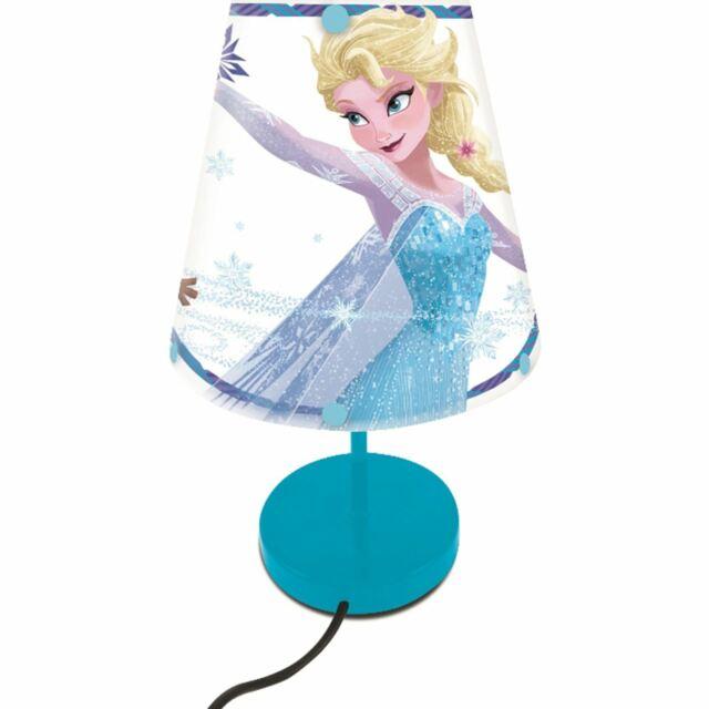 Disney Frozen Mesita de Noche Lámpara Elsa Anna Olaf