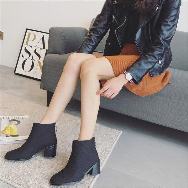 Stivali stivaletti bassi bassi stivaletti scarpe anfibi 4 cm nero  eleganti simil pelle 9518 9e3fa0