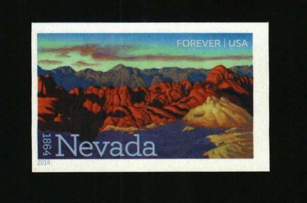 2014 49c Nevada Statehood, Silver State, Imperforate Sc