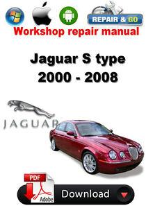 jaguar s type 2000 2008 workshop repair manual ebay rh ebay com 2000 jaguar vanden plas repair manual 2000 jaguar xk8 repair manual